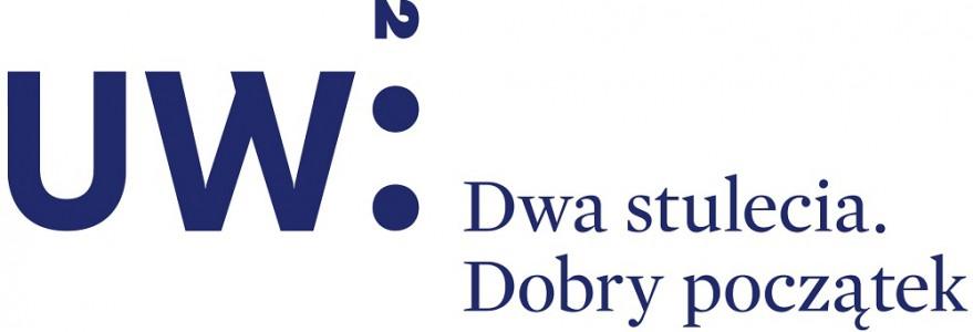 Logotyp jubileuszu UW