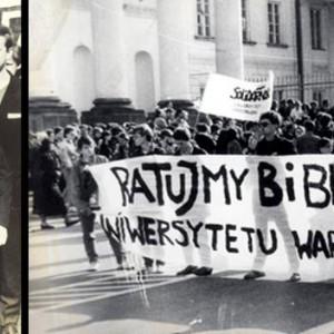 We wrześniu 1989 r. odbyła się manifestacja w obronie Biblioteki Uniwersytetu Warszawskiego. Studenci i pracownicy domagali się powstania nowego gmachu biblioteki. W liczącym wtedy prawie 100 lat budynku, nie mieścił się już ogromny księgozbiór.