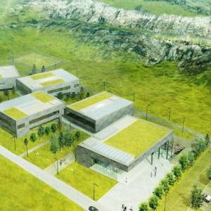 Europejskie Centrum Edukacji Geologicznej w Chęcinach ma spełniać nie tylko praktyczne funkcje. Budynek powstający w obrębie rezerwatu wkomponuje się w istniejącą przyrodę. Oprócz murawy na dachach posadzone zostaną rośliny podobne do tych, które rosną w okolicach kamieniołomu. Projekt pracowni WXCA   projekt pracowni WXCA