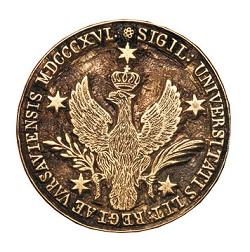 Pieczęć Królewskiego Uniwersytetu Warszawskiego używana do 1823 roku