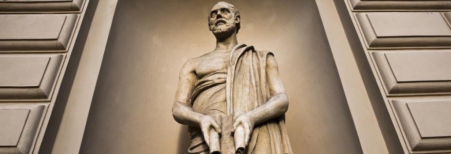 Figura Demostenesa - największego mówcy starożytnej Grecji - ma swój pierwowzór w Muzeach Watykańskich. Fot. M. Kaźmierczak.