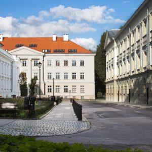 Zabytkowy kampus przy Krakowskim Przedmieściu