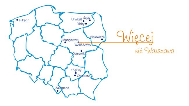 Mapa - UW w Polsce