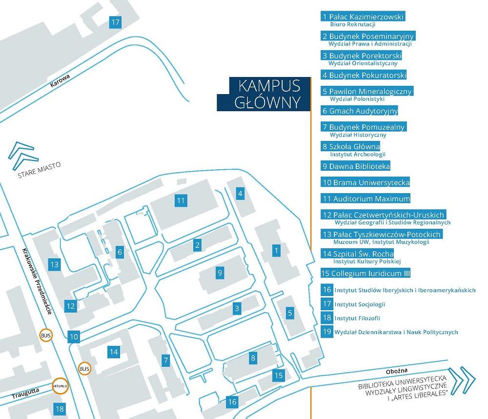 Mapa - kampus główny