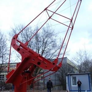 Prototyp małego teleskopu Czerenkowa SST-1M wykonany przez Konsorcjum CTA Polska. Źródło: IFJ PAN / CTA Polska