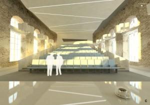 Sala wykładowa w Gmachu Audytoryjnym, wizualizacja