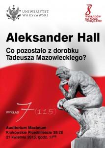 Plakat A. Hall