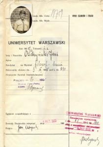 Zdjęcie z indeksu Jana Ożdżyńskiego