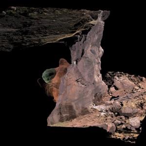 Trójwymiarowy skan jaskini.