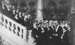 Inauguracja_roku_1915_rektor_Brudziński