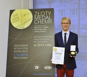 Michał. Szawczyk. Złoty medal chemii