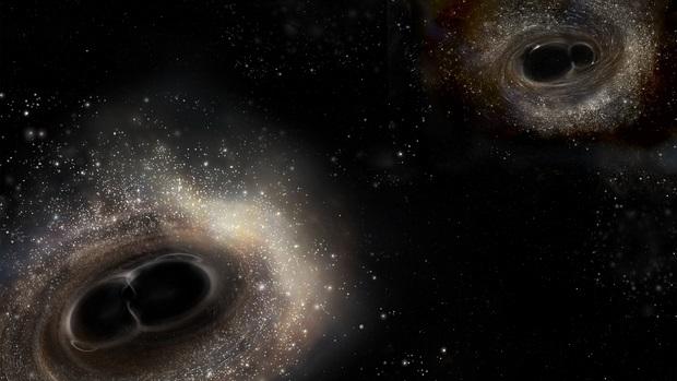 Wizualizacja zderzenia dwóch czarnych dziur