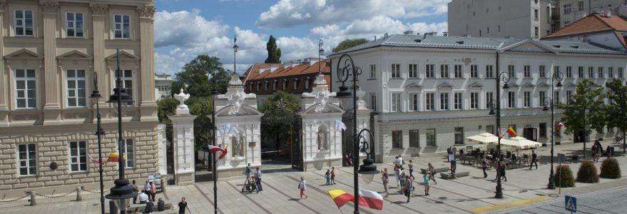 Brama główna Uniwersytetu Warszawskiego i fragment Krakowskiego Przedmieścia, jpg
