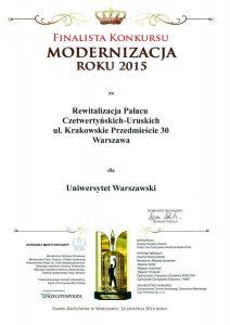 Modernizacja roku 2015, finalista konkursu(1)