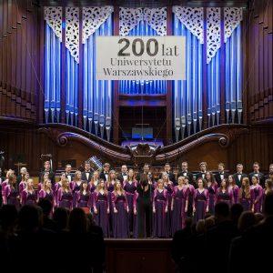 Chór Akademicki UW podczas Galowego Koncertu Jubileuszowego
