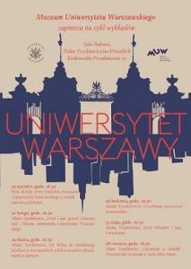 plakat. wykłady o historii UW