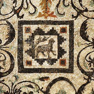 Wczesnorzymska mozaika z panterą z Willi Ptaków, fot. W. Jerke/CAŚ UW