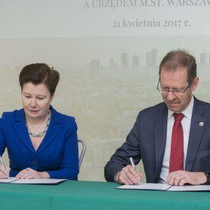 Uroczystość podpisania porozumienia pomiędzy UW i m.st. Warszawa, fot. D. Miśko.
