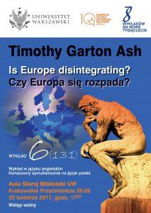 Plakat, 8 wykładów, prof. Ash