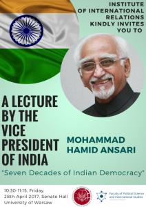 Wykład_wiceprezydenta_Indii_2017