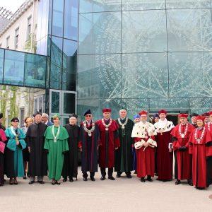 Uroczystość na Uniwersytecie w Białymstoku.