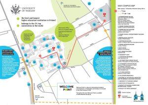 Mapa kampusu UW