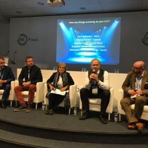 Przedstawiciele pięciu CLC podczas zgromadzenia walnego członków EIT Food. Źródło: konto twitterowe Mieke Vercaeren.