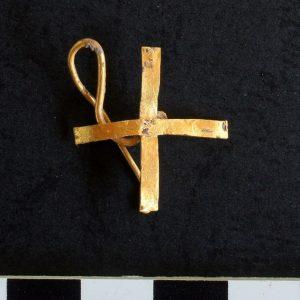 Kolczyk znaleziony w czasie wykopalisk w Novae. Fot. M. Lemke.