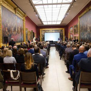 Uroczystość przyznania nagrody NCN odbyła się w Galerii Sztuki Polskiej XIX wieku w Sukiennicach. Fot. Michał Niewdana, NCN.