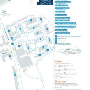 Mapa kampusu głównego UW