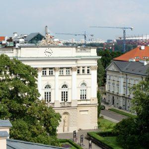 Budynek Dawnej Biblioteki, zabytkowy kampus przy Krakowskim Przedmieściu