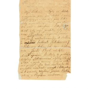 List do Juliana Fontany w Paryżu - autograf
