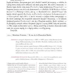 List do Juliana Fontany w Paryżu - treść