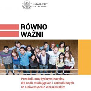 Poradnik antydyskryminacyjny: http://www.rownowazni.uw.edu.pl/wp-content/uploads/2017/12/podrecznik-rownowazni-elektro-1.pdf