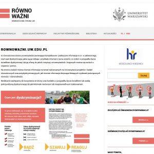 Równościowa strona uniwersytecka: http://rownowazni.uw.edu.pl
