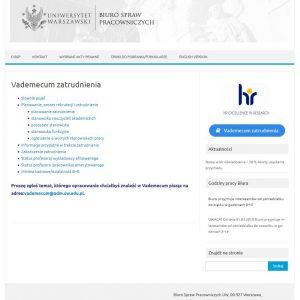 Vademecum zatrudnienia: http://bsp.adm.uw.edu.pl/vademecum-zatrudnienia