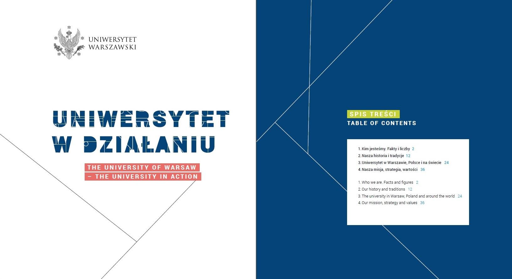 """Polsko-angielska publikacja """"Uniwersytet w działaniu"""""""