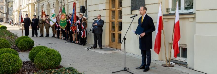 Prof. Marcin Pałys, rektor UW podczas uroczystości