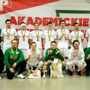 Futsaliści AZS UW po zwycięskim turnieju AMP w lutym 2018