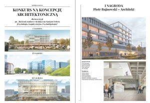 """Publikacja poświęcona konkursowi na koncepcję architektoniczną dla inwestycji """"Budynek naukowo-dydaktyczny Kampus Ochota (psychologia, kognitywistyka, psychofizjologia)"""""""