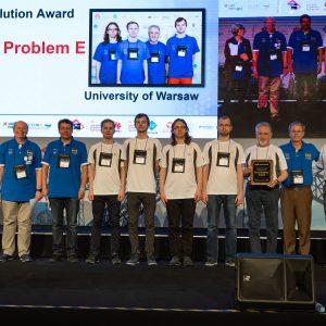 Ceremonia wręczenia nagród podczas finału ACM-ICPC 2019. Fot. Bob Smith/icpcnews.com