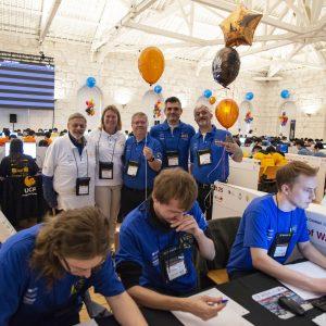 Studenci WMIM UW podczas finałowych zawodów ACM-ICPC 2019. Fot. Randy Piland/icpcnews.com