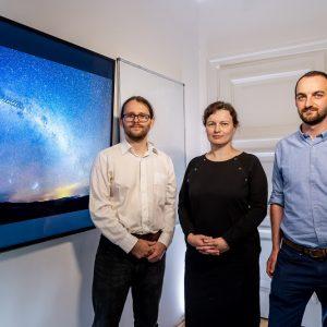 Astronomowie z UW, którzy stworzyli trójwymiarową mapę Drogi Mlecznej.