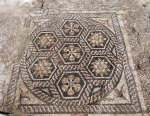 Rzymska mozaika odkryta w Aleksandrii. Fot. dr G. Majcherek, CAŚ UW.