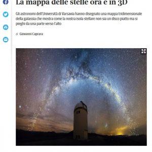 Włochy, Corriere Della Sera: https://www.corriere.it/cronache/19_agosto_02/fascino-ricurvo-via-lattea-mappa-stelle-ora-3d-8469620a-b564-11e9-8f02-33360bc8762b.shtml