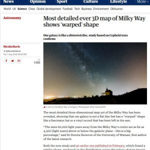 Wielka Brytania, The Guardian: https://www.theguardian.com/science/2019/aug/01/most-detailed-ever-3d-map-of-milky-way-shows-warped-shape-cepheid
