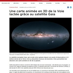 Szwajcaria, RTS: https://www.rts.ch/info/sciences-tech/9519853-une-carte-animee-en-3d-de-la-voie-lactee-grace-au-satellite-gaia.html