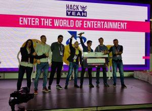 Zespół Pink Monkeys podczas HackYeah 2019. Fot. Sz. Kocur