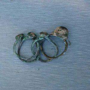 Pierścionki odnalezione w Novae. Fot. dr Martin Lemke.