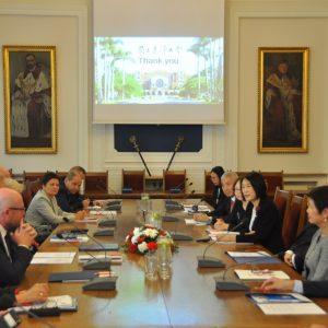 Wizyta delegacji z Państwowego Uniwersytetu Tajwańskiego na UW.